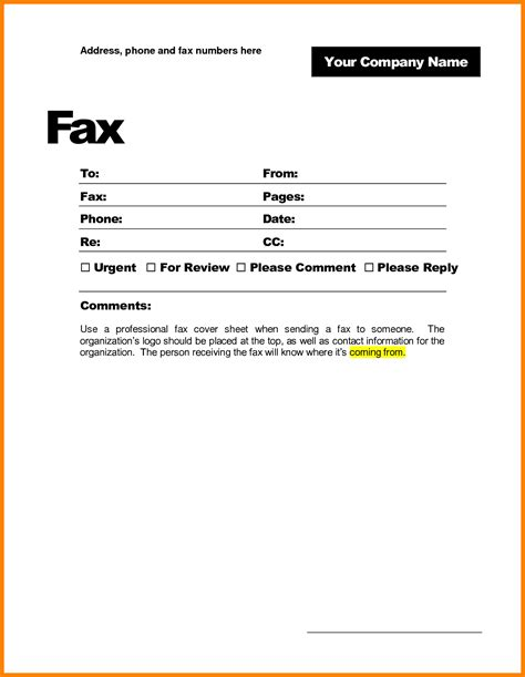 8 fax cover sheet doc bibliography format