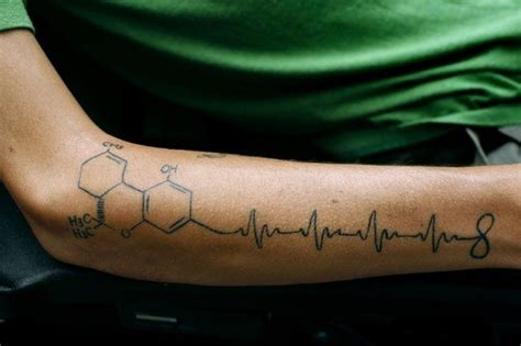 thc molecule tattoo tetrahydrocannabinol beat infinty tattoos