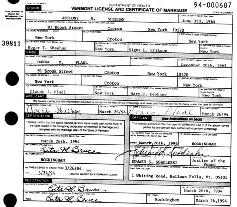 Marriage Records Vermont Birth Certificates Orange County San Diego Birth