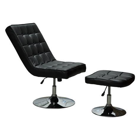 siege reglable en hauteur fauteuil relaxation pivotant avec repose pieds