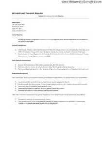 occupational therapy resume exles assistant occupational therapist resume sales