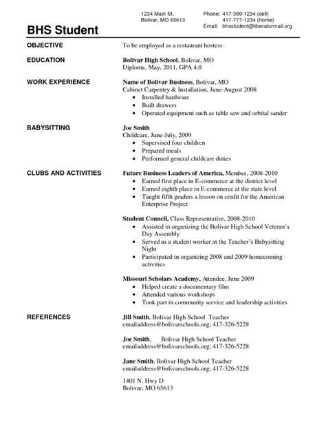 fresh outta high school resume resume ideas