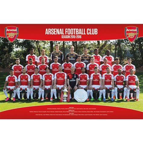 tottenham hotspur 2015 16 team photo poster iposters football soccer posters arsenal fc 2015 16 team squad photo poster iposters