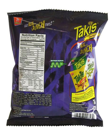 hot chips nutritional information takis fuego rolled corn tortilla x tra hot chips 5pack
