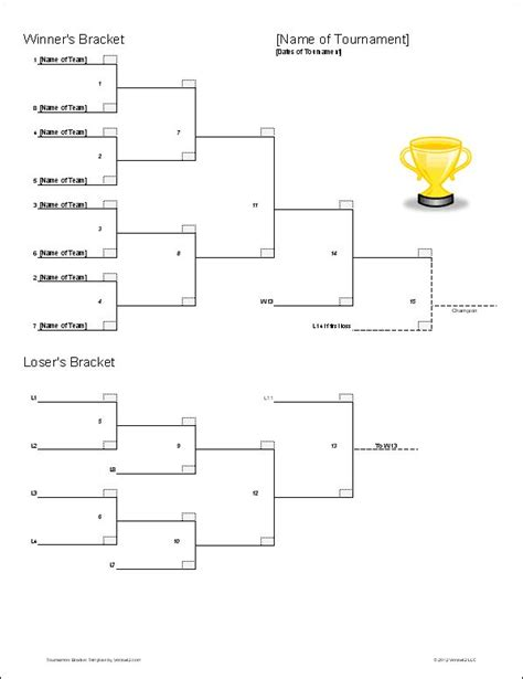 free printable volleyball tournament brackets download the double elimination bracket template from