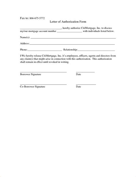 Authorization Request Letter Exle Authorization Form Template Sle Funding Blank Sales Contract