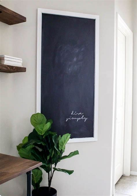 home decor for less home decorating diy projects easy diy chalkboard for less
