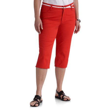 colored capris s plus size belted colored walmart