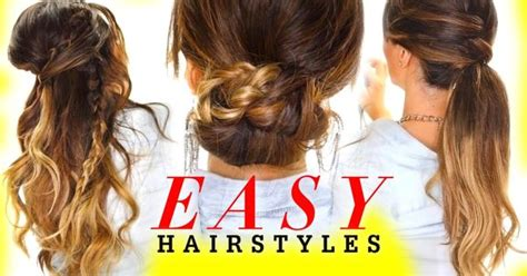 casual hairstyles for greasy hair 4 easy lazy hairstyles for greasy hair braids and half