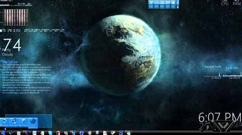 wallpaper engine vs rainmeter how to futuristic awesome desktop 2012 rainmeter