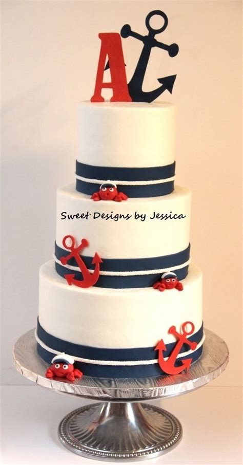 Nautical Bridal Shower Cakes by Nautical Bridal Shower Cake Mimis Cakes