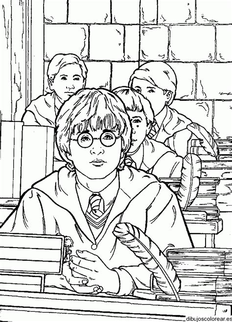 dibujos para colorear harry potter ogro y harry harry potter
