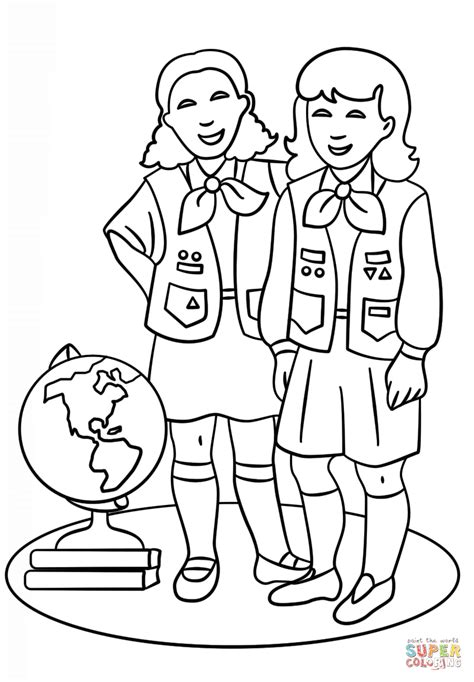 Girl Scout Brownies Coloring Pages Az Coloring Pages Scout Brownie Coloring Pages