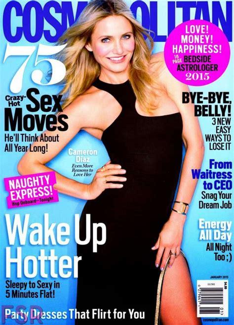 magazine usa cameron diaz cosmopolitan magazine usa january 2015 covers