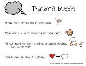 new descriptors of talking and thinking bubbles jill