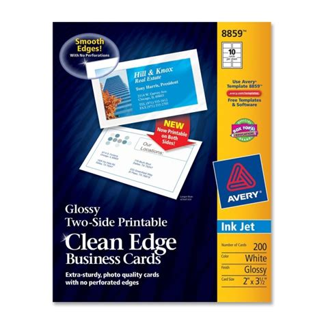 avery 8859 template avery 8859 clean edge inkjet glossy business cards 2 quot x 3