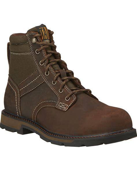 steel toe boots ariat s 6 quot groundbreaker waterproof steel toe work