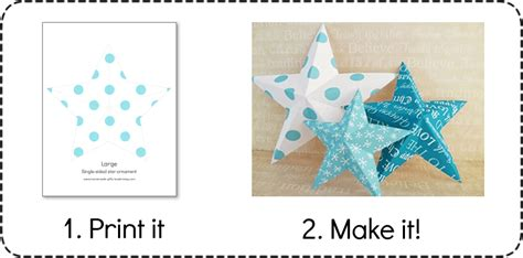 printable make your own tree topper decorations easy 3d baubles and more