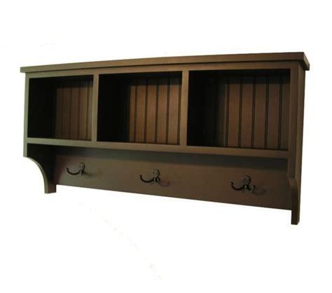 Entry Cubby Shelf by Cubby Shelf With Robe Hooks Wall Storage