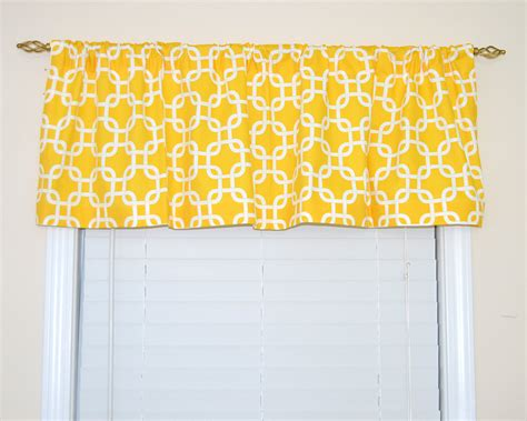 And Yellow Valances Yellow Valance Top Treatment Yellow And White Valance