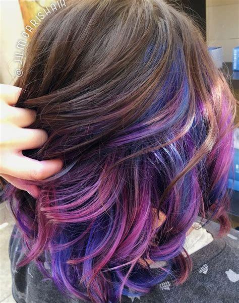 short hairstyles with peekaboo purple layer 25 best ideas about unicorn hair on pinterest unicorn