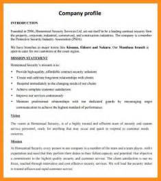 Cover Letter Construction Company Profile 6 Company Profile Sle Resume Setups