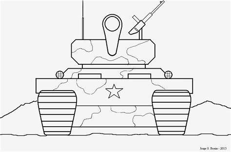 arte no paint desenho para colorir tanque de guerra