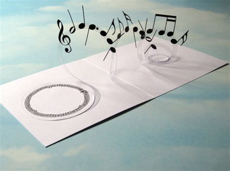 Musical Note Card Template by Card Spiral Pop Up Musical Notes 3d Card Handmade
