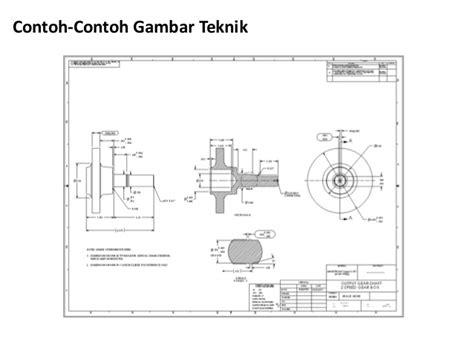 contoh format gambar teknik 1 gambar teknik tl