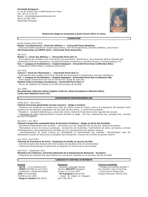 Lettre De Motivation Stage Cabinet D Avocat by Modele Cv Stage Cabinet D Avocat Cv Anonyme