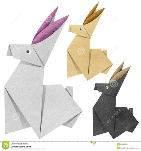 Origami Papercraft - origami rabbit recycled papercraft stock images image