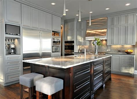 silver kitchen cabinets 15 modern gray kitchen cabinets in silver shades