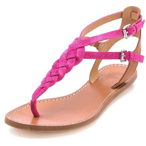 Verona Pink Flatshoes by sigerson morrison rank braided flat sandals 175 liked on polyvore polyvore