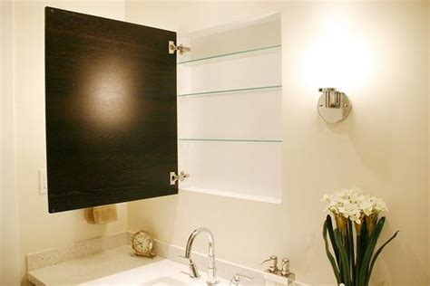 recessed medicine cabinet with a nexus cabinet door from
