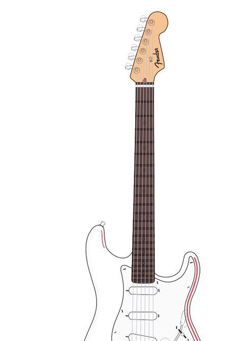 Gitar Listrik Ibanez F M White electric guitar clipart 40