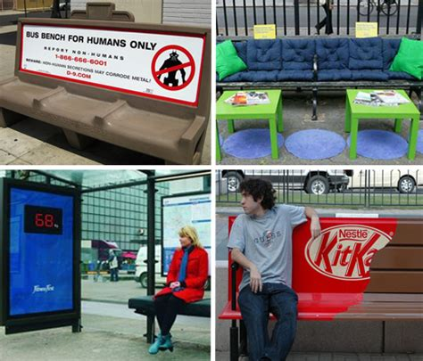 bank guerilla marketing home banking 15 clever bench ads