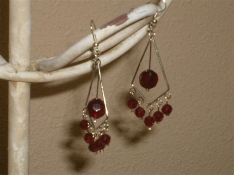Burgundy Chandelier Burgundy Chandelier Earrings
