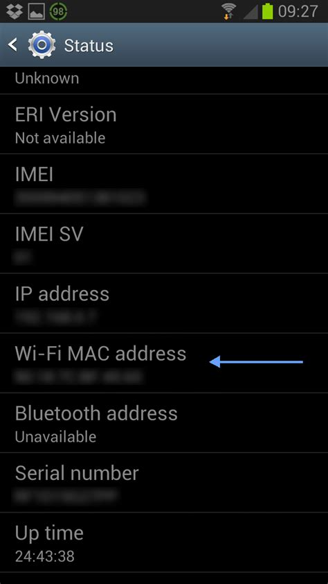 Mac Address Finder Android Find Mac Address Of Samsung Galaxy Devices Reviews Guides