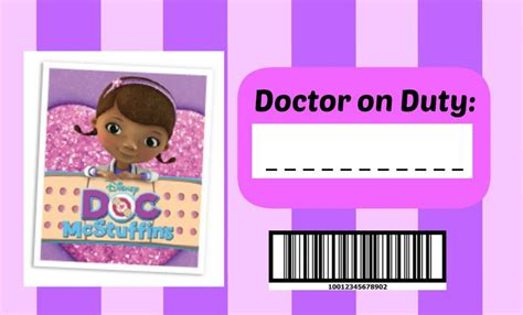 printable medical name tags doc mcstuffins band aid clip art quotes