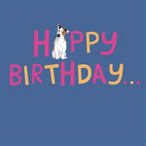 Card happy birthday jack russell buy online from animal gift club