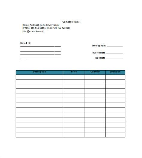 Download Invoice Template Google Docs Basic Invoice Template Docs