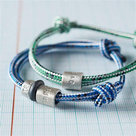 personalised s rope bead bracelet by chambers beau