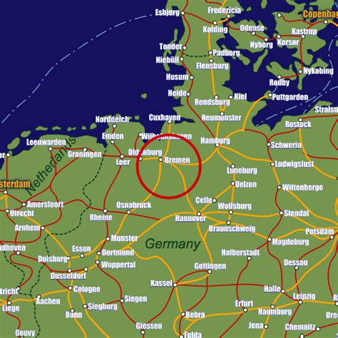 germany bremen map bremen rail maps and stations from european rail guide