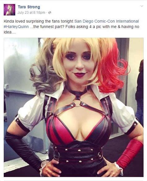 tara strong batman tara strong harley quinn cosplay at sdcc project nerd