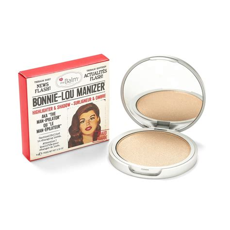 The Balm Single Blush Blush On Highlighter bonnie lou manizer highlighter shimmer thebalm