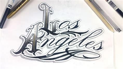 los angeles tattoo los angeles lettering design time lapse
