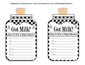 Got Milk Template by Free Baby Shower Printables