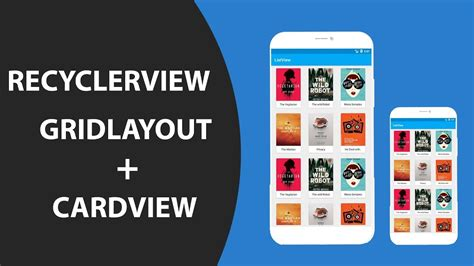 recyclerview tutorial android studio recyclerview cardview with gridlayout android studio