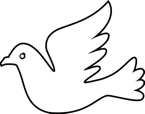 Coloring Sheet Dove Free Image Peace Dove Coloring Page