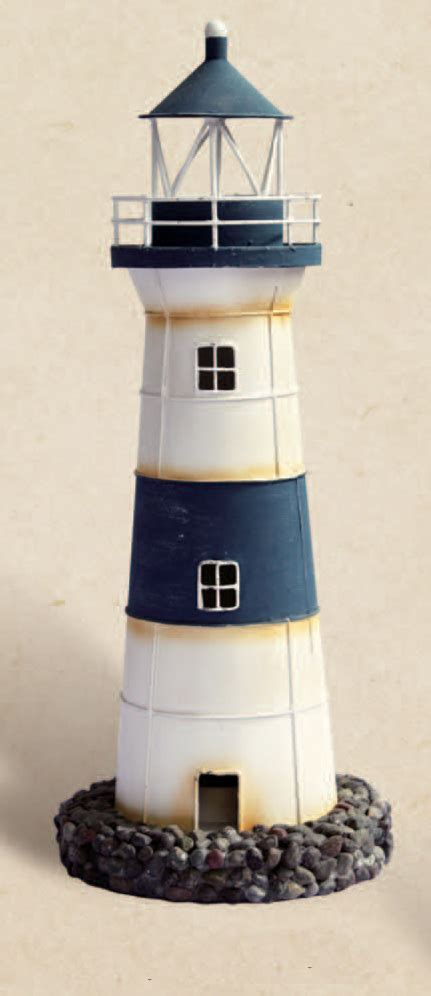 Shop for Blue and White Lighthouse Candle Holder online